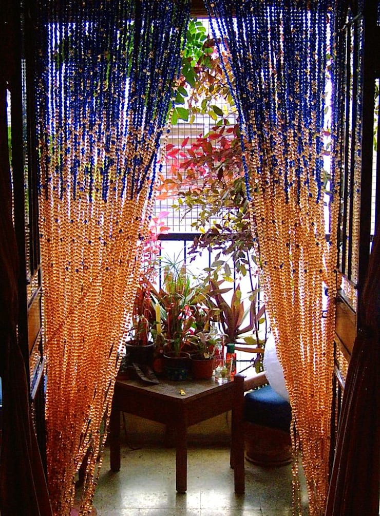 Navy New Champagne Acrylic Crystal Bead Curtain:  Hotels by Memories of a Butterfly: bead curtains/screens/installations/Hanging Sculptures