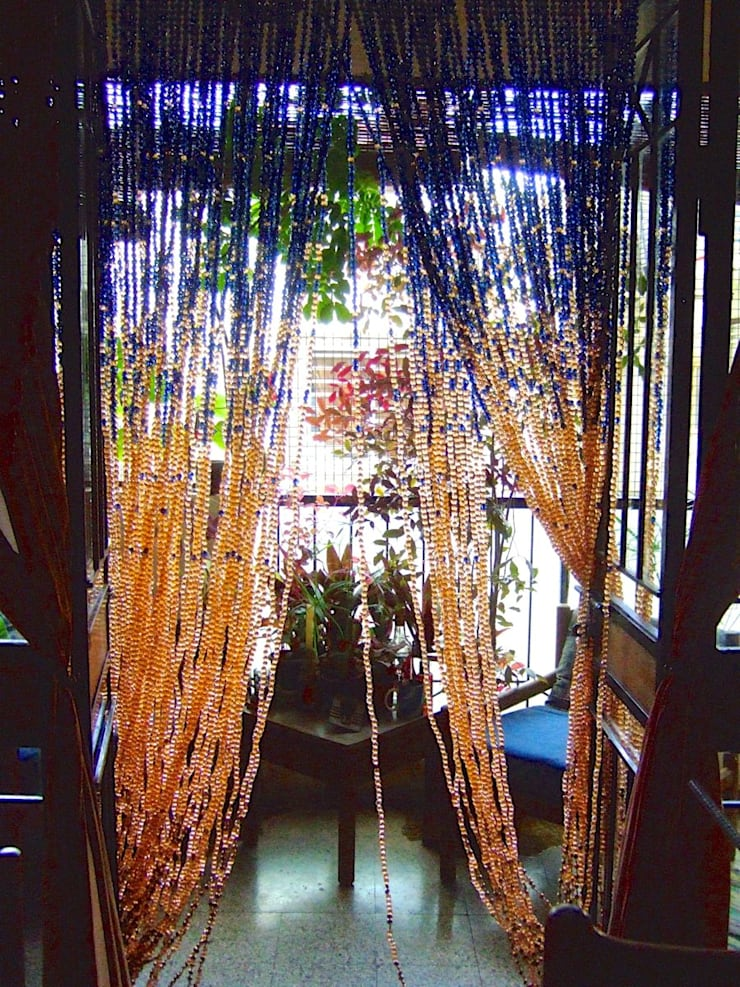curtain:  Hotels by Memories of a Butterfly: bead curtains/screens/installations/Hanging Sculptures