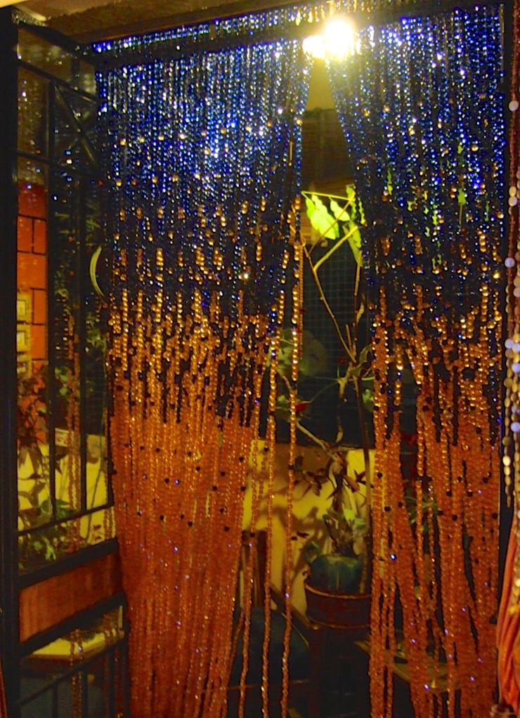 Navy New Champagne Acrylic Crystal Bead Curtain:  Commercial Spaces by Memories of a Butterfly: bead curtains/screens/installations/Hanging Sculptures