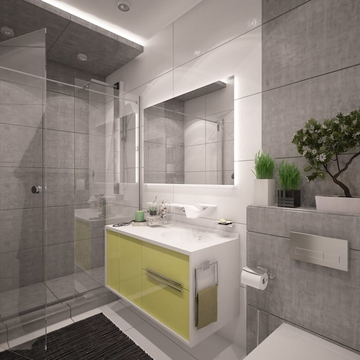 minimalistic Bathroom by Interior designers Pavel and Svetlana Alekseeva