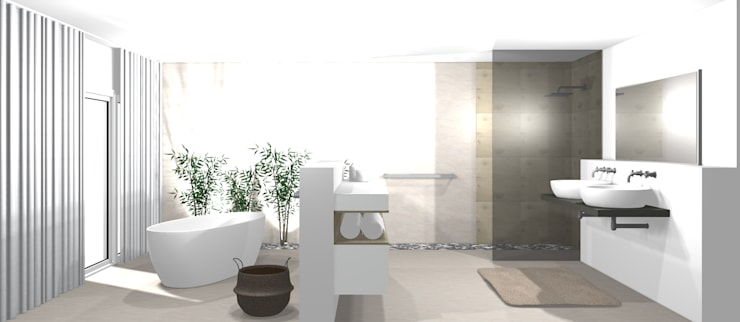 Modernes Badezimmer 3D von wohnly | homify
