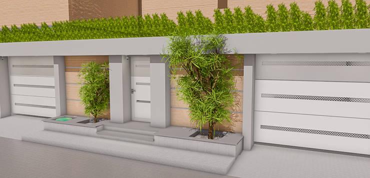: Casas de estilo moderno por Simon Lopez Diseños 3D