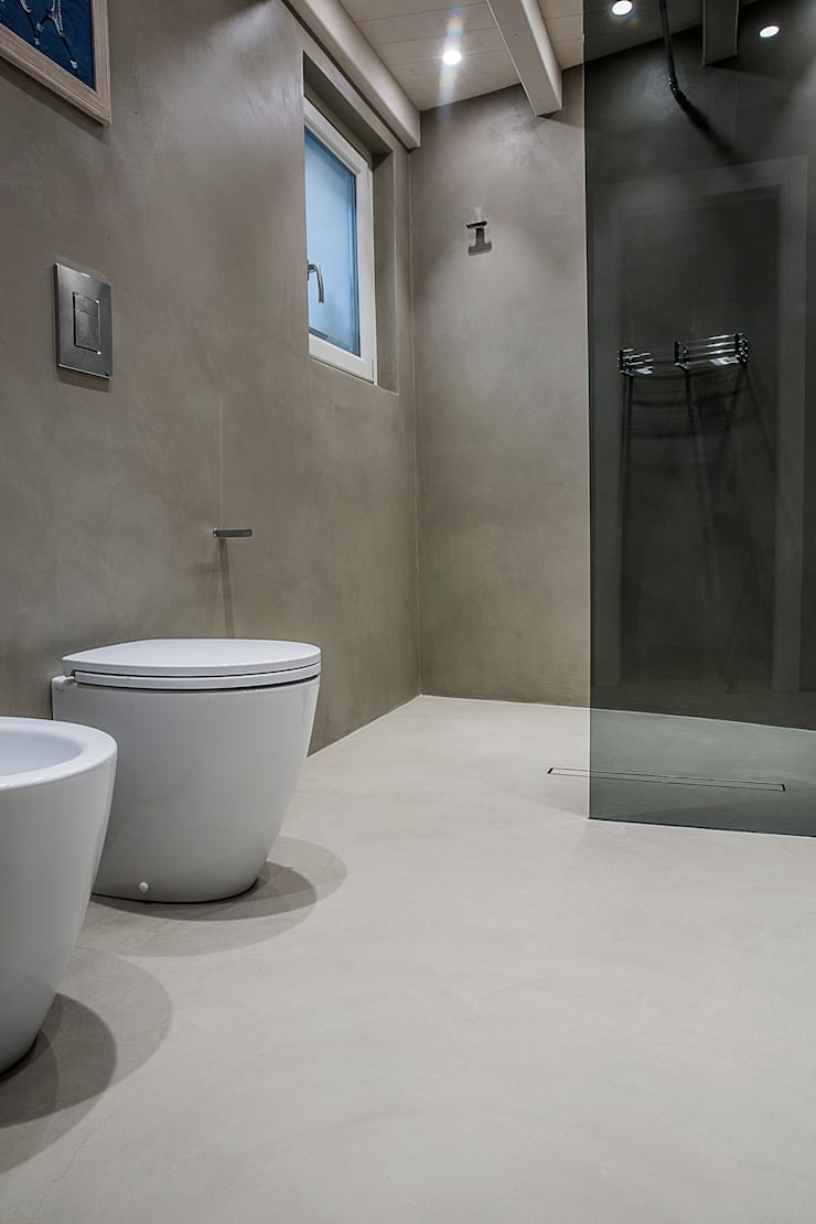 łazienka Bez Płytek Profesjonalista Hd Surface Homify