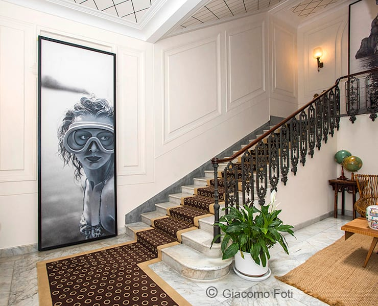 Pasillos y recibidores de estilo  por Giacomo Foti Photographer