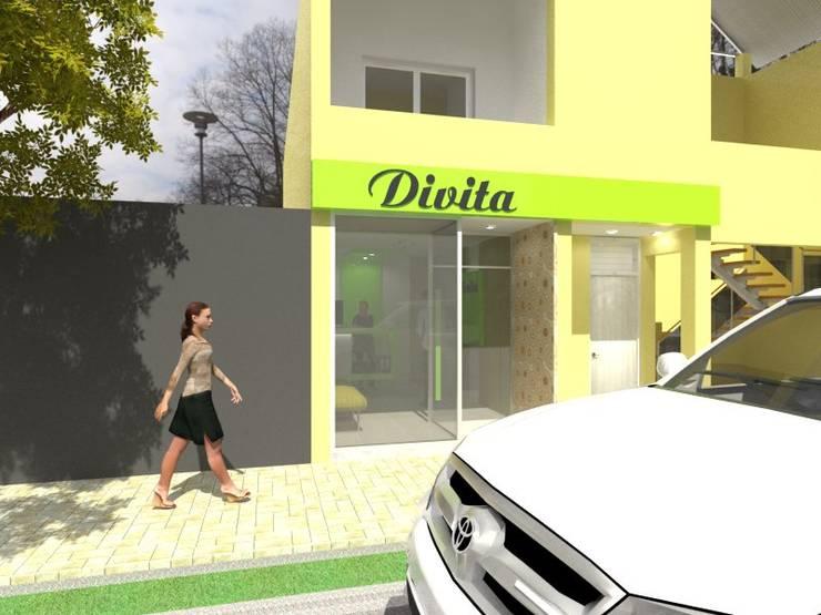 Fachada: Oficinas y locales comerciales de estilo  por Gastón Blanco Arquitecto,