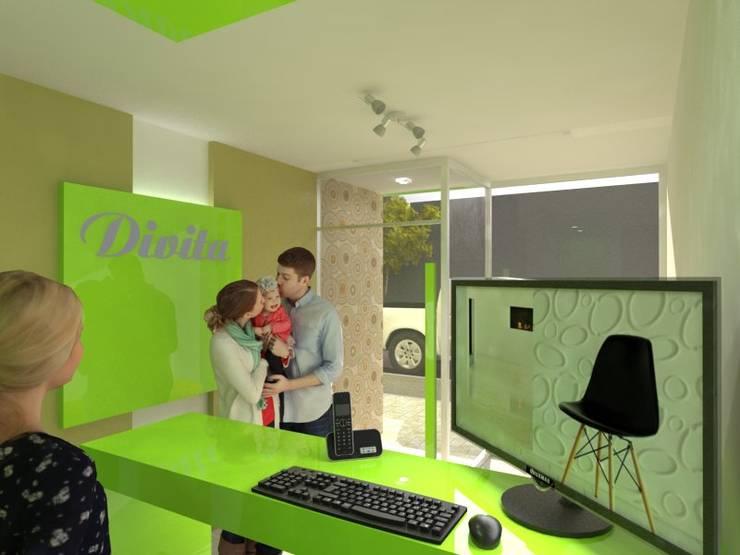 Recepción: Oficinas y locales comerciales de estilo  por Gastón Blanco Arquitecto,