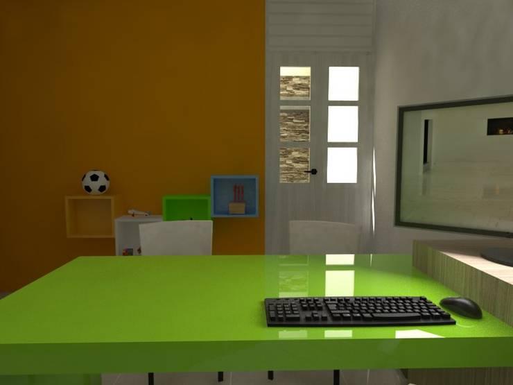 Consultorio Nutricional: Oficinas y locales comerciales de estilo  por Gastón Blanco Arquitecto,