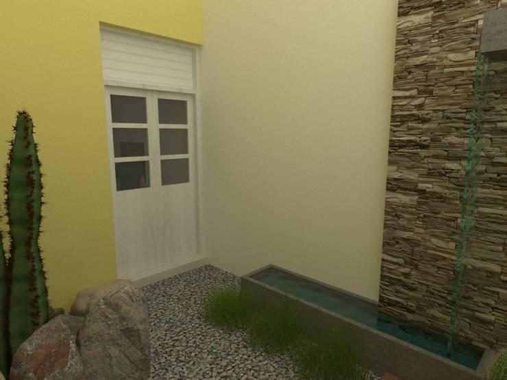 Patio Interno: Oficinas y locales comerciales de estilo  por Gastón Blanco Arquitecto,