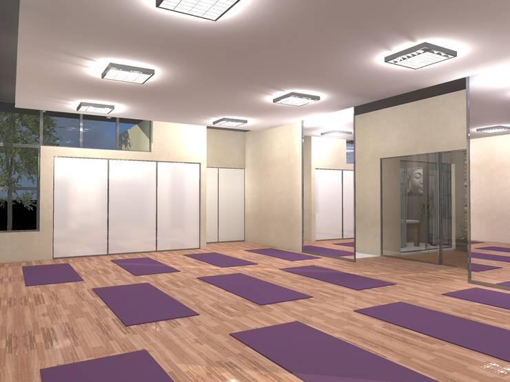 Salón Principal: Galerías y espacios comerciales de estilo  por PRAD Arquitectura,