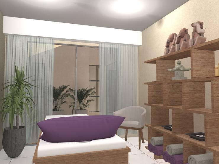 Gabinete: Galerías y espacios comerciales de estilo  por PRAD Arquitectura,