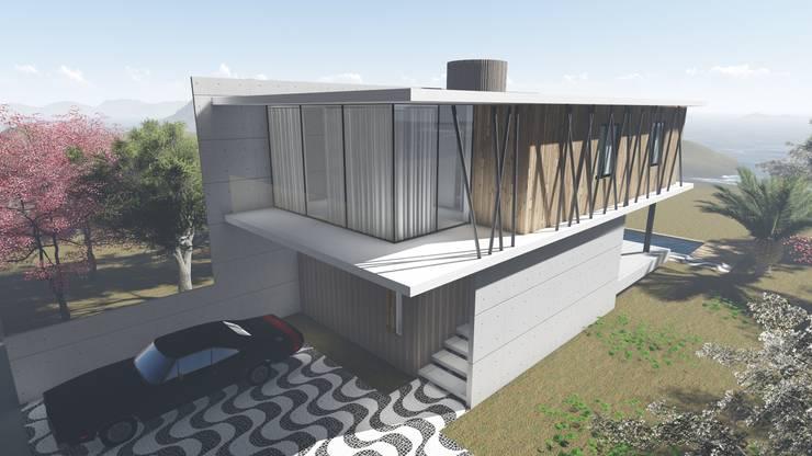 Casas de estilo  por Tangram Engenharia Construtiva