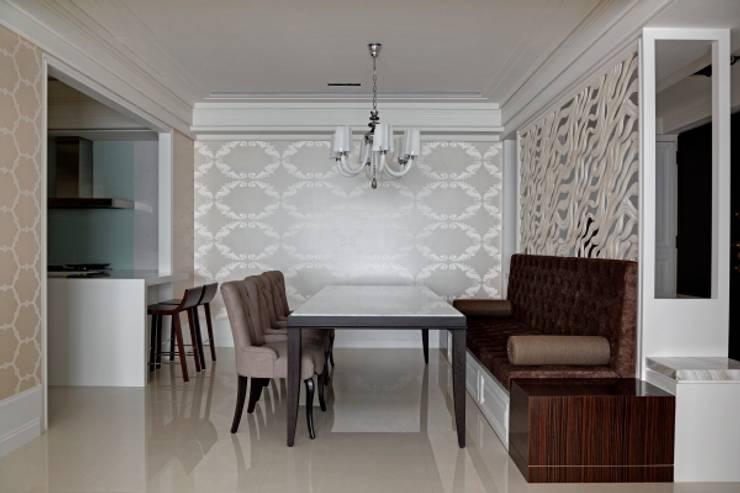 現代英倫風:  牆壁與地板 by 誼軒室內裝修設計有限公司