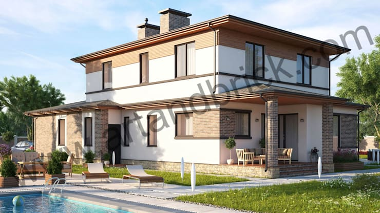 Projekty, klasyczne Domy zaprojektowane przez Архитектурное бюро Art&Brick