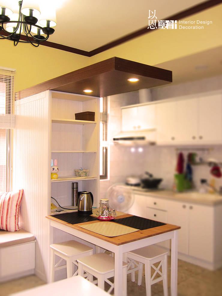 餐廚區:  餐廳 by 以恩設計