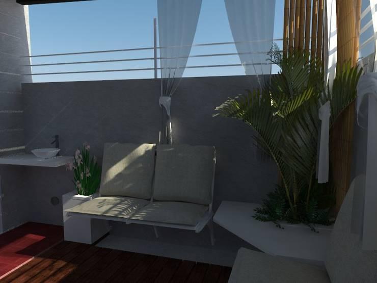 Render de propuesta.:  de estilo  por Claroscuro Diseño Interior