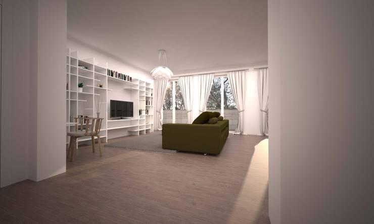 LIVING SEVENTY: Soggiorno in stile  di LAB16 architettura&design