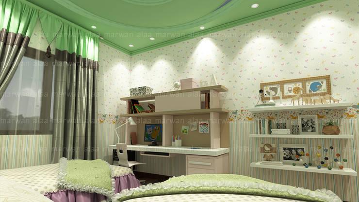 لقطات بسيطة من تصميماتنا الداخلية:  غرفة نوم تنفيذ EHAF Consulting Engineers