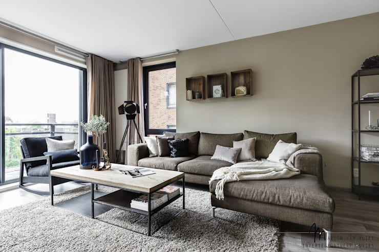 Salas de estar  por Marion van Vliet Interieurontwerp
