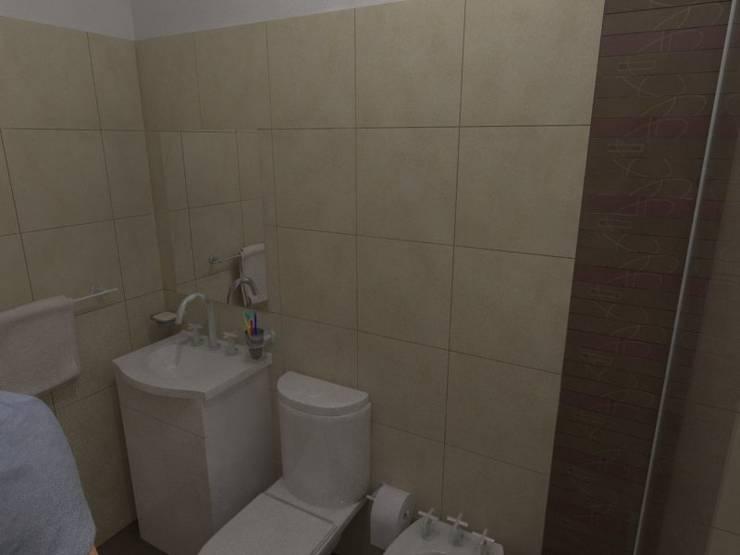 Baño Principal: Baños de estilo  por Gastón Blanco Arquitecto,