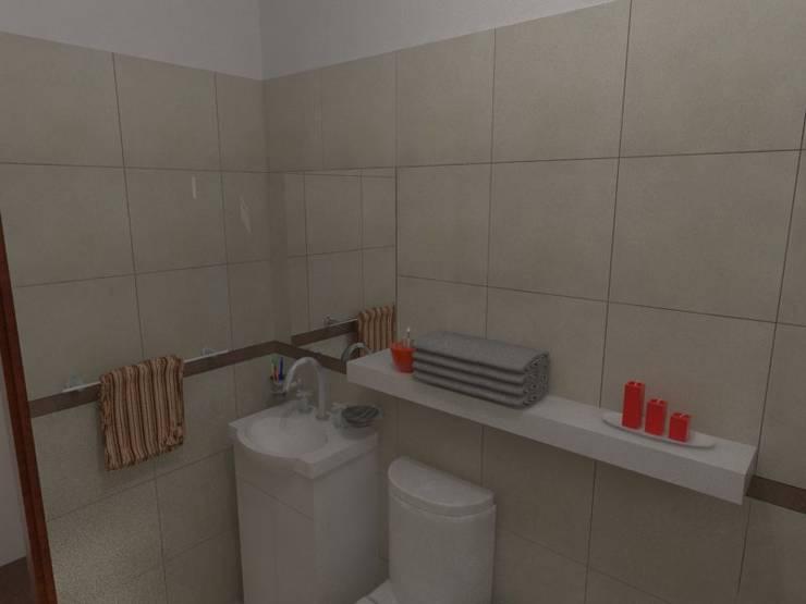Baño en Suite: Baños de estilo  por Gastón Blanco Arquitecto,