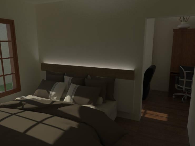 Dormitorio Principal: Dormitorios de estilo  por Gastón Blanco Arquitecto,
