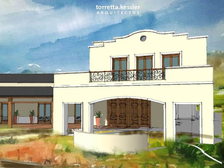 Hotel, salon de eventos y conferencias:  de estilo  por TORRETTA KESSLER Arquitectos,
