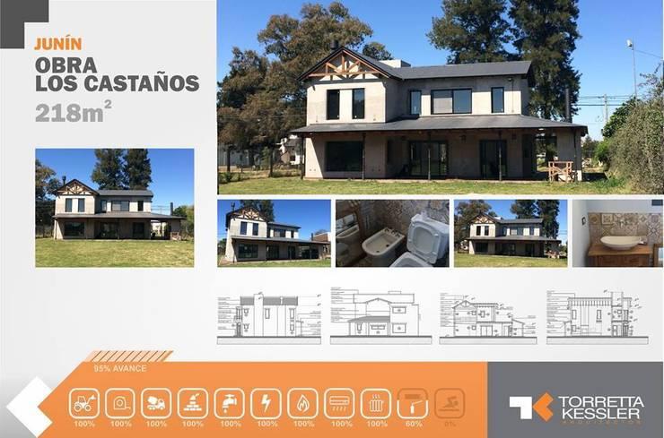 Casa estilo campo: Casas de estilo  por TORRETTA KESSLER Arquitectos,Rural Ladrillos