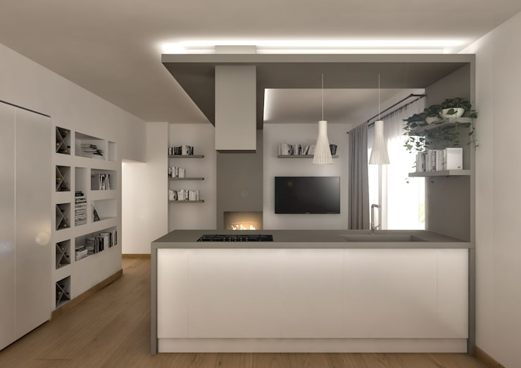 Modern kitchen by Architetto Luigia Pace Modern Wood Wood effect