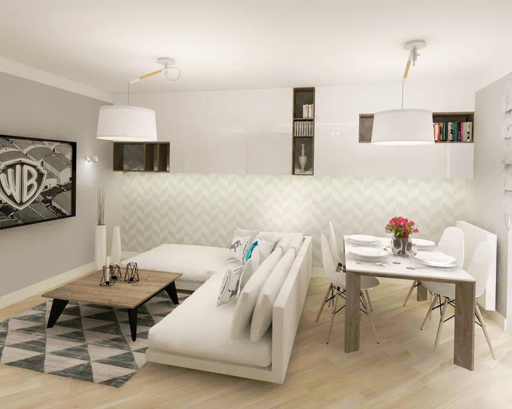 Salas / recibidores de estilo  por Kata Design, Escandinavo