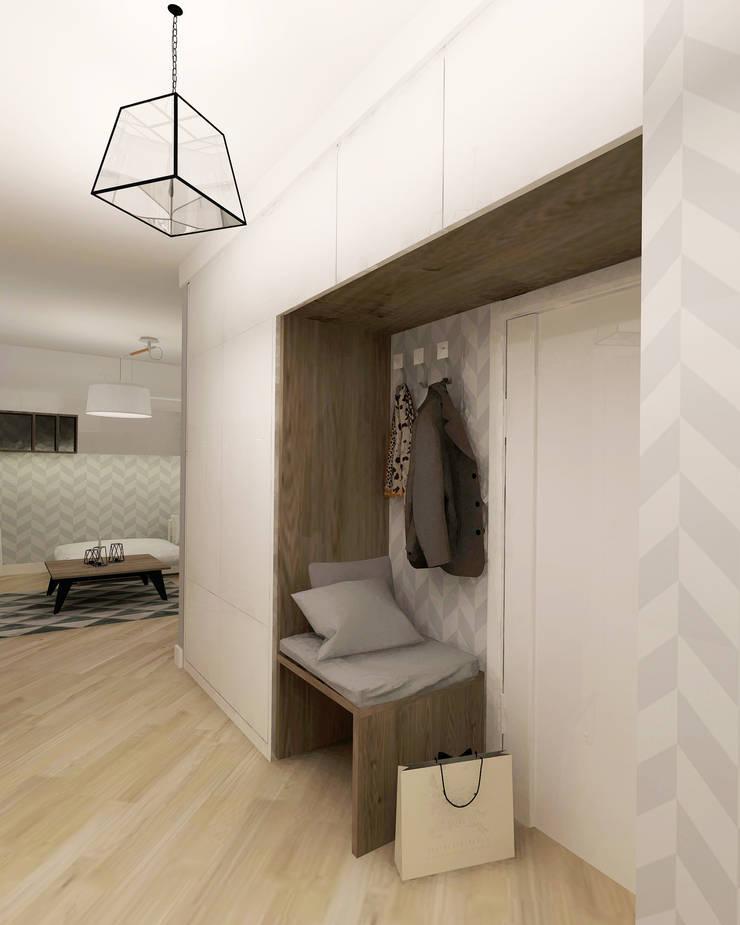 Pasillos y vestíbulos de estilo  por Kata Design, Escandinavo
