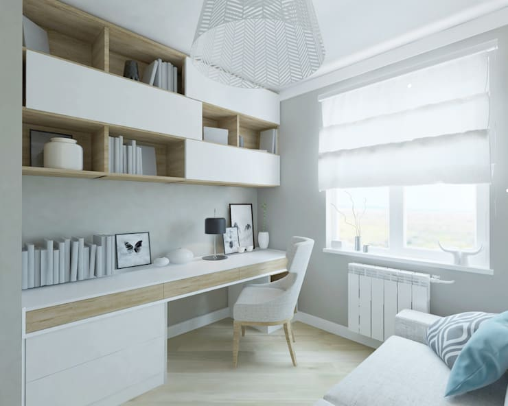 Oficinas de estilo  por Kata Design, Escandinavo
