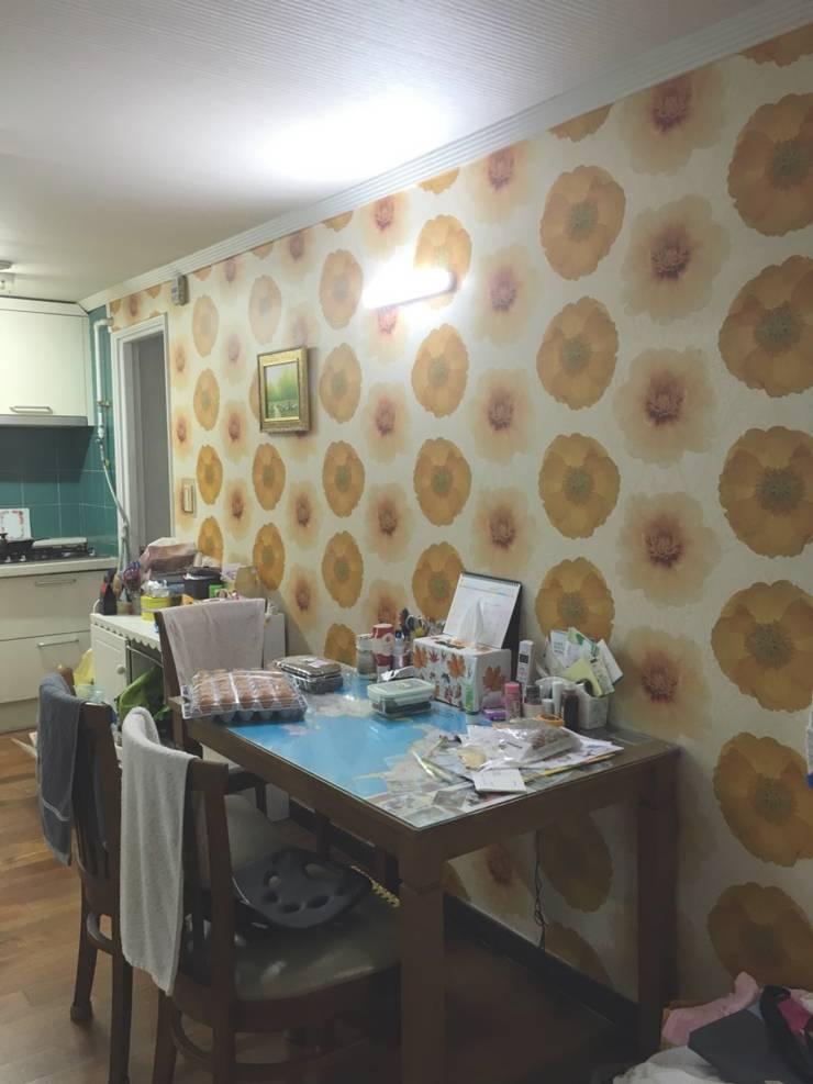 [홈라떼] 양평동 32평 아파트 전세집 홈스타일링 : homelatte의  주방