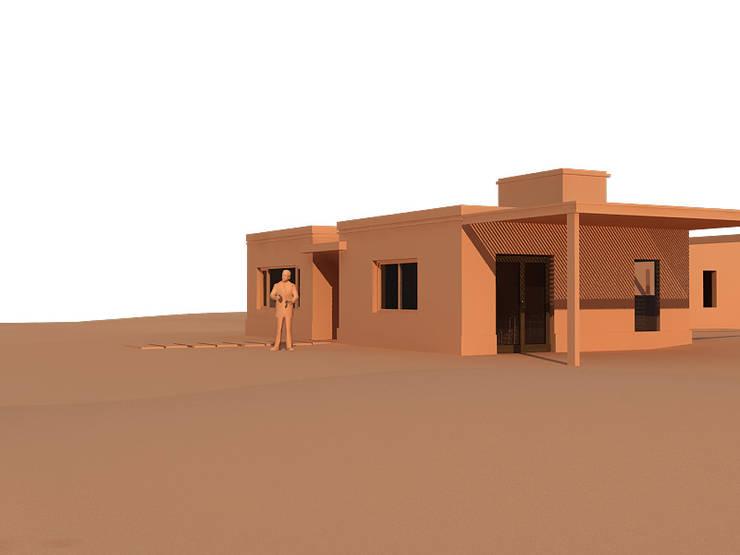 PROPUESTA DE FACHADA: Casas de estilo  por BENGAL CONSTRUCCIONES,