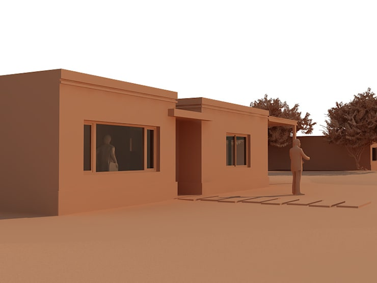 ESTUDIO DE FACHADA: Casas de estilo  por BENGAL CONSTRUCCIONES,