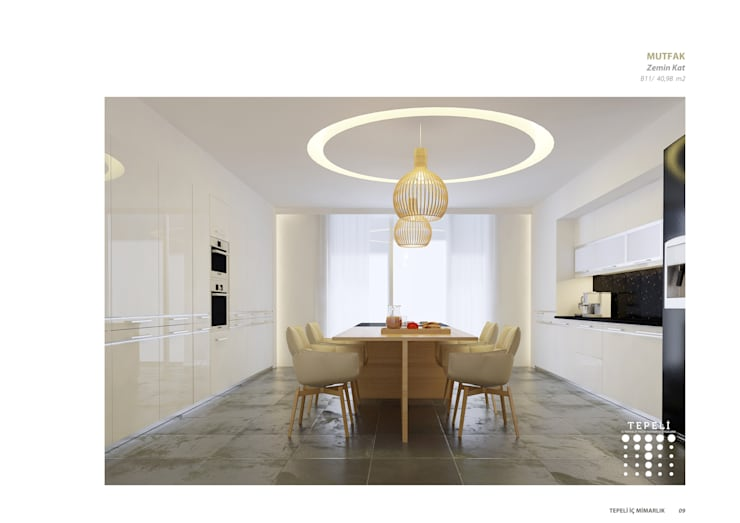 modern Kitchen by Tepeli İç Mimarlık