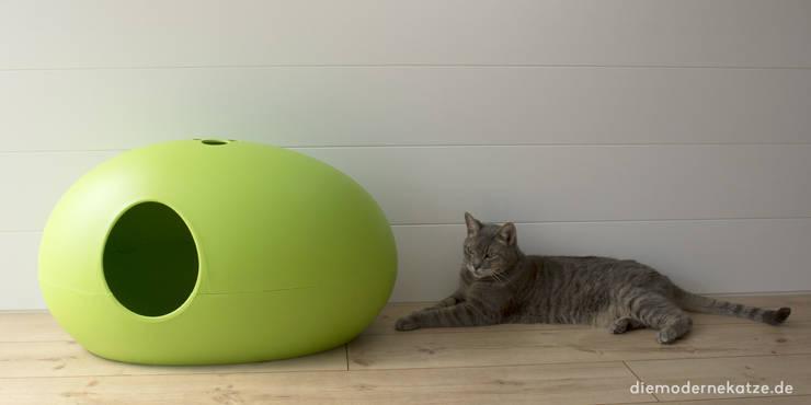 Moderne Katzentoilette Poopoopeedo:  Flur, Diele & Treppenhaus von DIE MODERNE KATZE ®