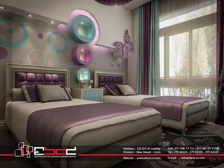 ELNASR.ST NEW MAADI :  غرفة الاطفال تنفيذ المجموعة المصرية البريطانية للمقاولات والديكور والتصميم الداخلى