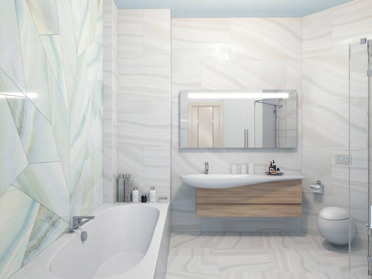 Ванная: Ванные комнаты в . Автор – Студия дизайна интерьера 'Золотое сечение'