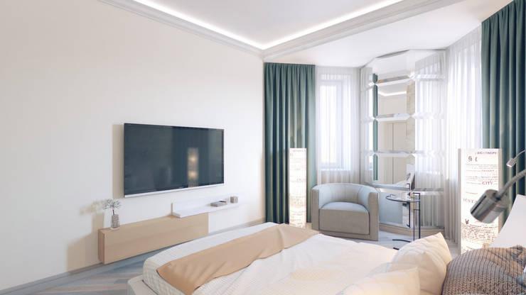 Спальня: Спальни в . Автор – Студия дизайна интерьера 'Золотое сечение'
