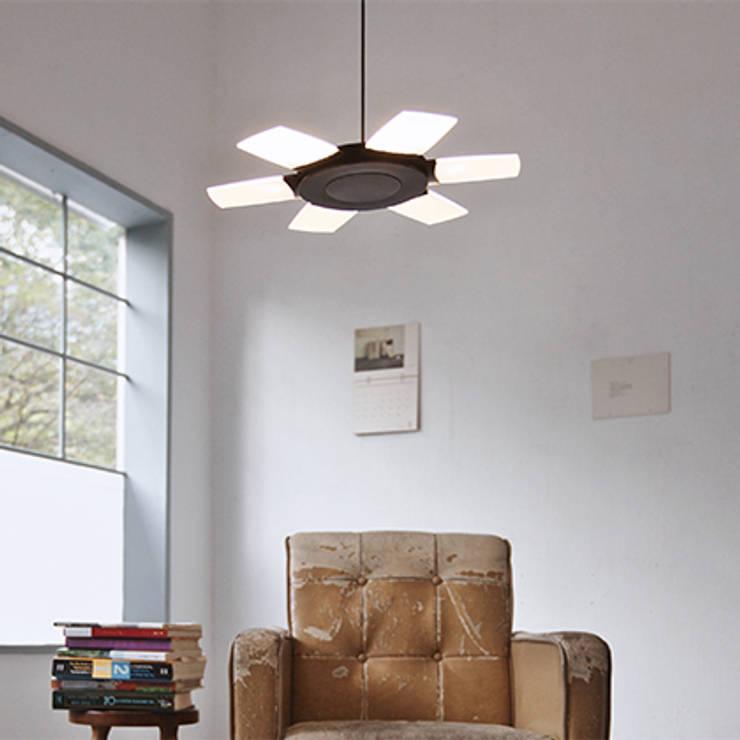Sunflower: styl , w kategorii Salon zaprojektowany przez ISD POLAND