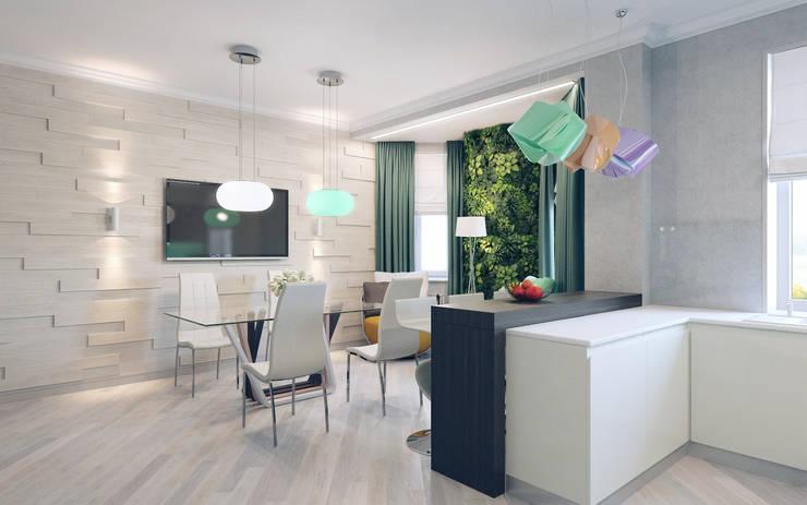 Кухня: Кухни в . Автор – Студия дизайна интерьера 'Золотое сечение'