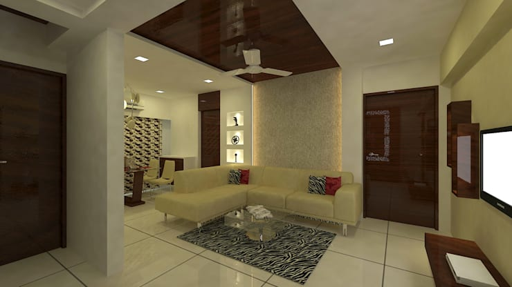 INTERIOR:  Living room by Midas Dezign