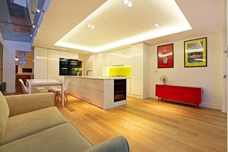 House renovation and extension in Fulham, SW6:  Dining room by APT Renovation Ltd