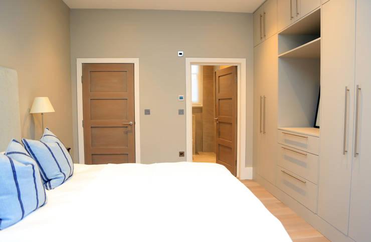 Full house renovation in Marylebone, London W1U: modern Bedroom by APT Renovation Ltd