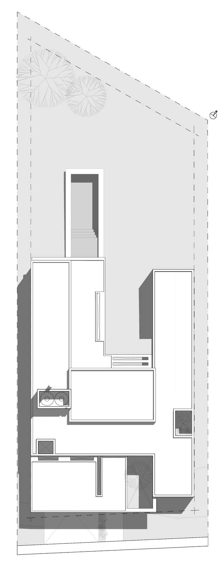 CASA QP:  de estilo  por Poggi Schmit Arquitectura,Moderno