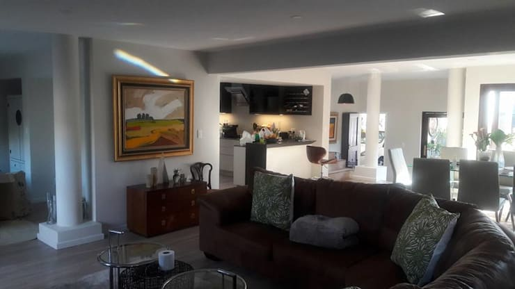 Diepenbrook residence renovation in Woodmead.:  Living room by Big A Contractors