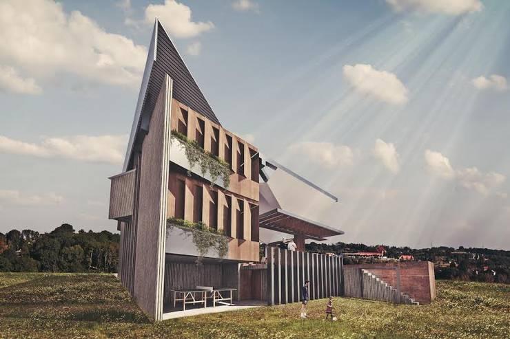 CASA ZAP: Casas de estilo industrial por HDA: ARQUITECTURA BIOCLIMATICA