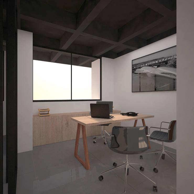Oficinas y Comercios de estilo  por Fiallo Design Studio