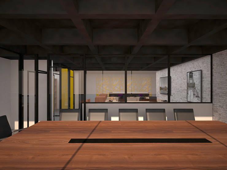 Vista desde Sala de Juntas: Oficinas y Tiendas de estilo  por Fiallo Design Studio