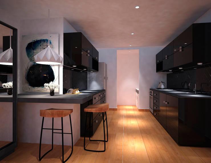 Cocina: Cocinas de estilo  por Fiallo Design Studio
